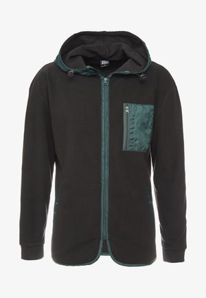 CONTRAST POLAR ZIP HOODY - Fleece jacket - black