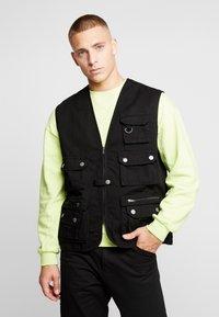 Urban Classics - WORKER  - Waistcoat - black - 0