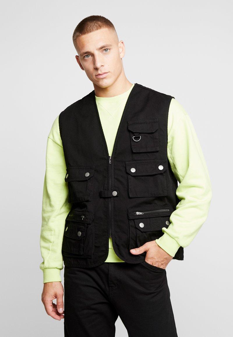 Urban Classics - WORKER  - Waistcoat - black