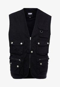 Urban Classics - WORKER  - Waistcoat - black - 4