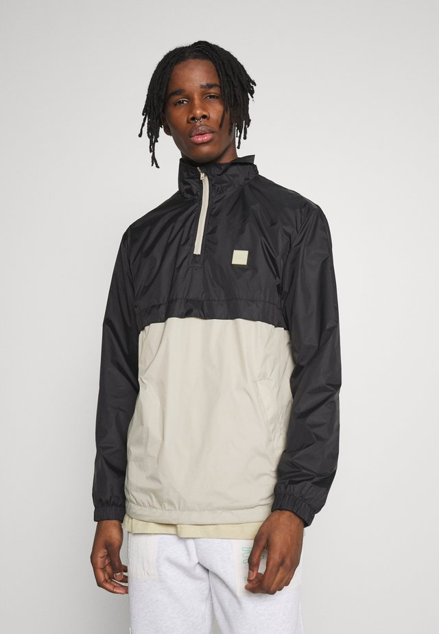 STAND UP COLLAR PULL OVER  - Windbreakers - black/concrete