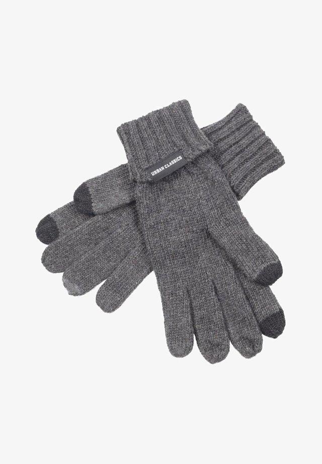 Gloves - darkgrey melange