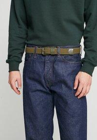 Urban Classics - ELASTIC BELT 2 PACK - Braided belt - black/olive - 1
