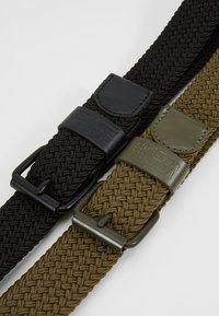 Urban Classics - ELASTIC BELT 2 PACK - Braided belt - black/olive - 4