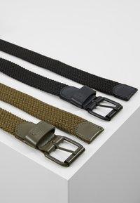 Urban Classics - ELASTIC BELT 2 PACK - Braided belt - black/olive - 2