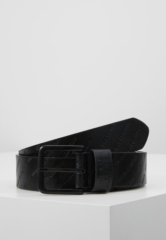ALLOVER LOGO BELT - Belt - black