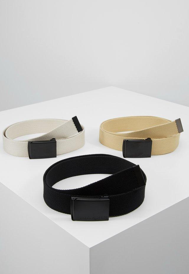 BELT 3 PACK - Belte - black/sand/beige
