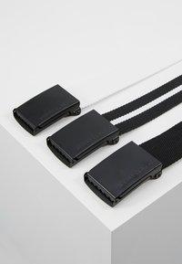 Urban Classics - BELT 3 PACK - Belt - black/white - 2