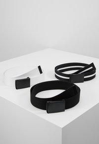 Urban Classics - BELT 3 PACK - Belt - black/white - 0