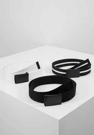 BELT 3 PACK - Skärp - black/white