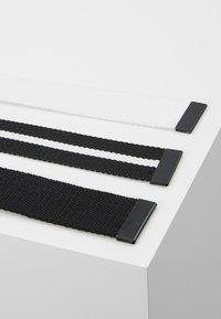 Urban Classics - BELT 3 PACK - Belt - black/white - 3