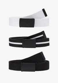 Urban Classics - BELT 3 PACK - Belt - black/white - 4