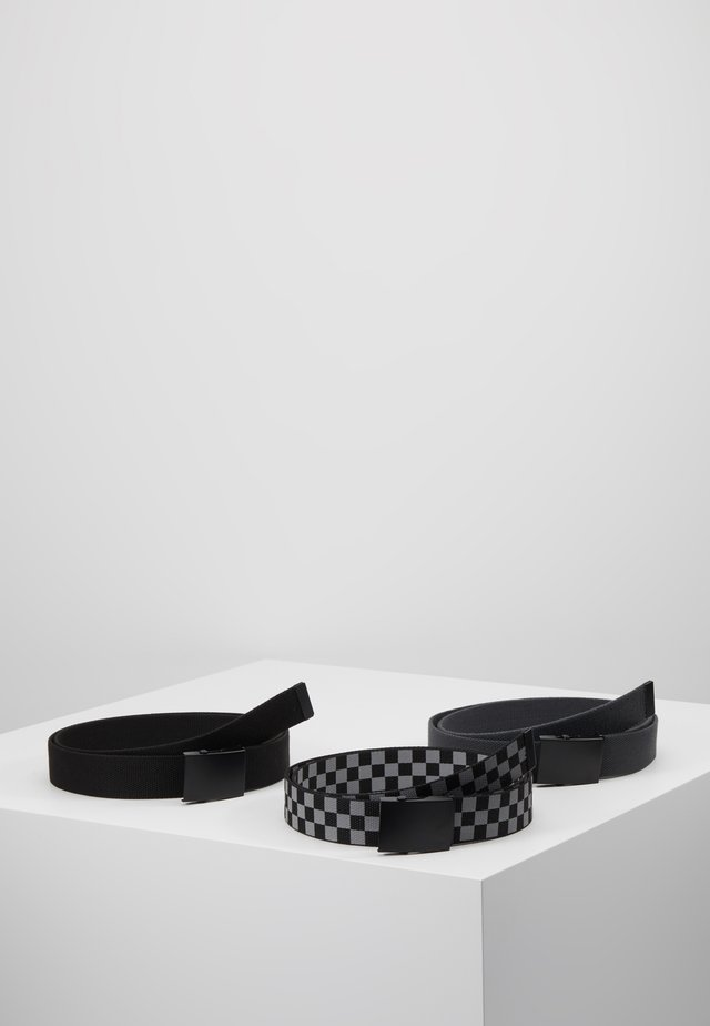 BELTS TRIO 3 PACK - Pasek - grey/black