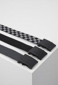 Urban Classics - BELTS TRIO 3 PACK - Belt - grey/black - 2