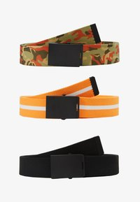 Urban Classics - BELTS TRIO 3 PACK - Belt - black/orange/white - 5