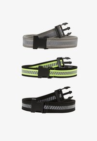 Urban Classics - REFLECTIVE BELT 3 PACK - Belt - black/silver/neonyellow/grey - 1