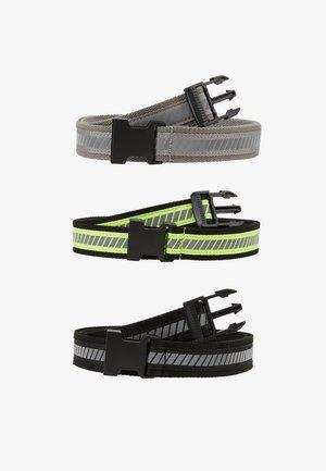 REFLECTIVE BELT 3 PACK - Belte - black/silver/neonyellow/grey