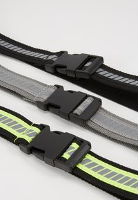 Urban Classics - REFLECTIVE BELT 3 PACK - Belt - black/silver/neonyellow/grey - 2