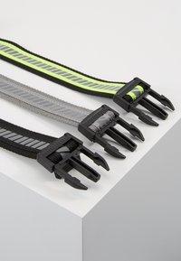 Urban Classics - REFLECTIVE BELT 3 PACK - Belt - black/silver/neonyellow/grey - 4