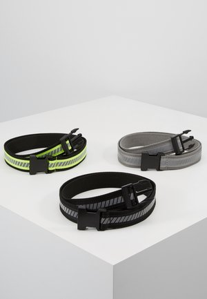 REFLECTIVE BELT 3 PACK - Belt - black/silver/neonyellow/grey