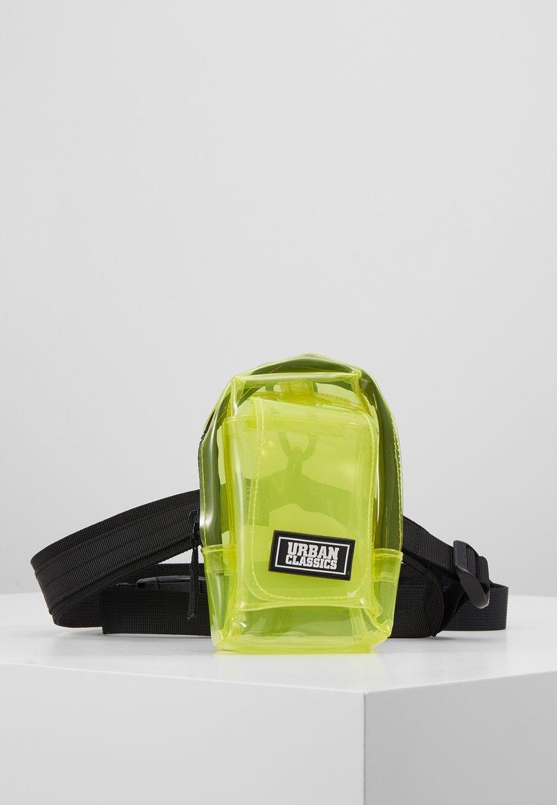 Urban Classics - UTILITY BELTBAG TRANSPARENT - Bum bag - yellow