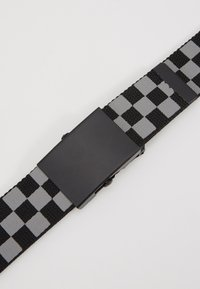 Urban Classics - ADJUSTABLE CHECKER BELT - Belt - black/grey - 2