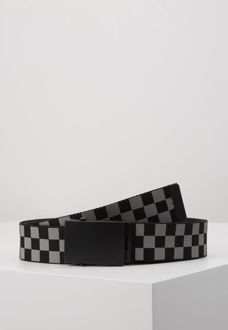 Urban Classics - ADJUSTABLE CHECKER BELT - Belt - black/grey