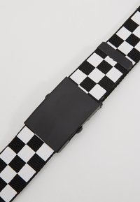 Urban Classics - ADJUSTABLE CHECKER BELT - Cintura - black/white - 2