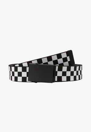 ADJUSTABLE CHECKER BELT - Belt - black/white