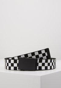 Urban Classics - ADJUSTABLE CHECKER BELT - Cintura - black/white - 0
