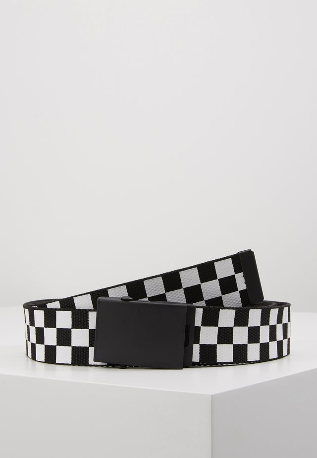 ADJUSTABLE CHECKER BELT - Pasek - black/white