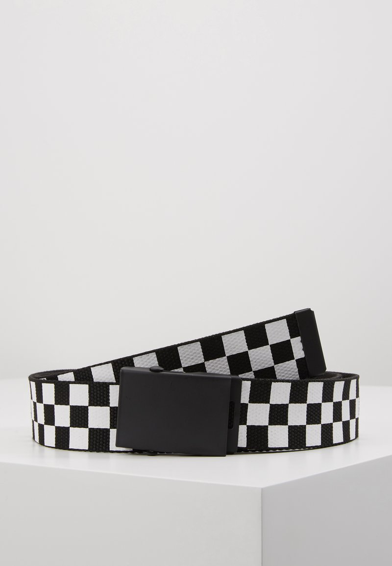Urban Classics - ADJUSTABLE CHECKER BELT - Cintura - black/white