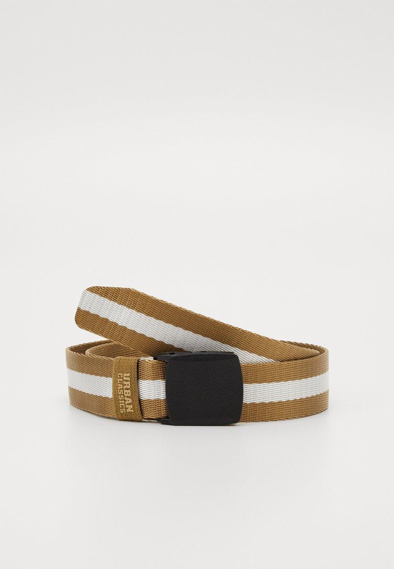 Urban Classics - CENTRE STRIPE BELT - Belt - beige