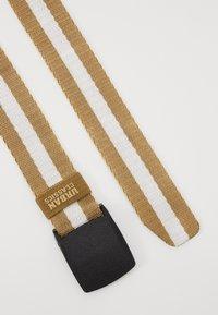 Urban Classics - CENTRE STRIPE BELT - Belt - beige - 1