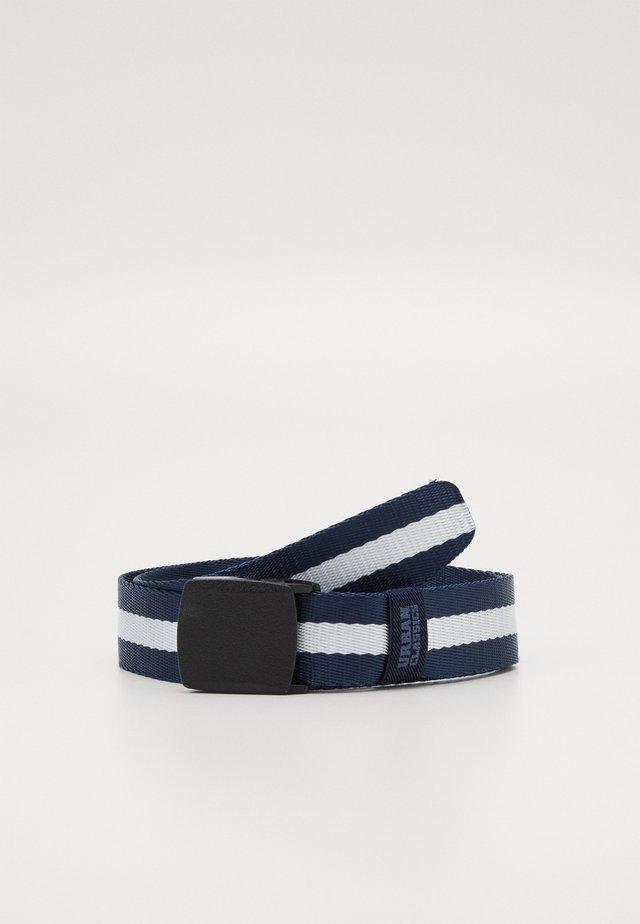 CENTRE STRIPE BELT - Belt - navy