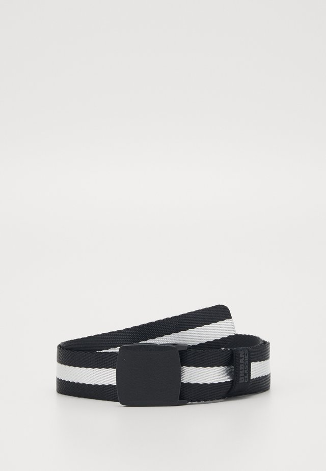 CENTRE STRIPE BELT - Belt - black