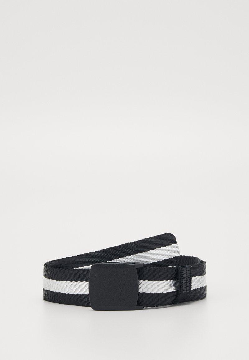 Urban Classics - CENTRE STRIPE BELT - Belt - black