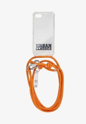 PHONE NECKLACE WITH ADDITIONALS / I PHONE 6/7/8 - Kännykkäpussi - transparent/ orange