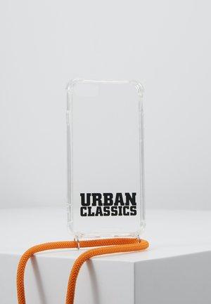 PHONE NECKLACE WITH ADDITIONALS / I PHONE 6/7/8 - Phone case - transparent/ orange