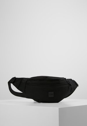 DOUBLE-ZIP SHOULDER BAG - Bältesväska - black