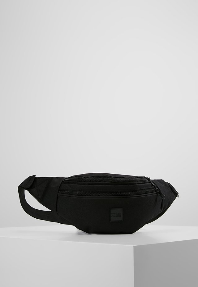 DOUBLE-ZIP SHOULDER BAG - Ledvinka - black