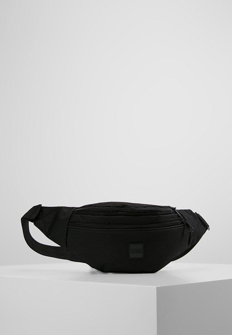 Urban Classics - DOUBLE-ZIP SHOULDER BAG - Marsupio - black
