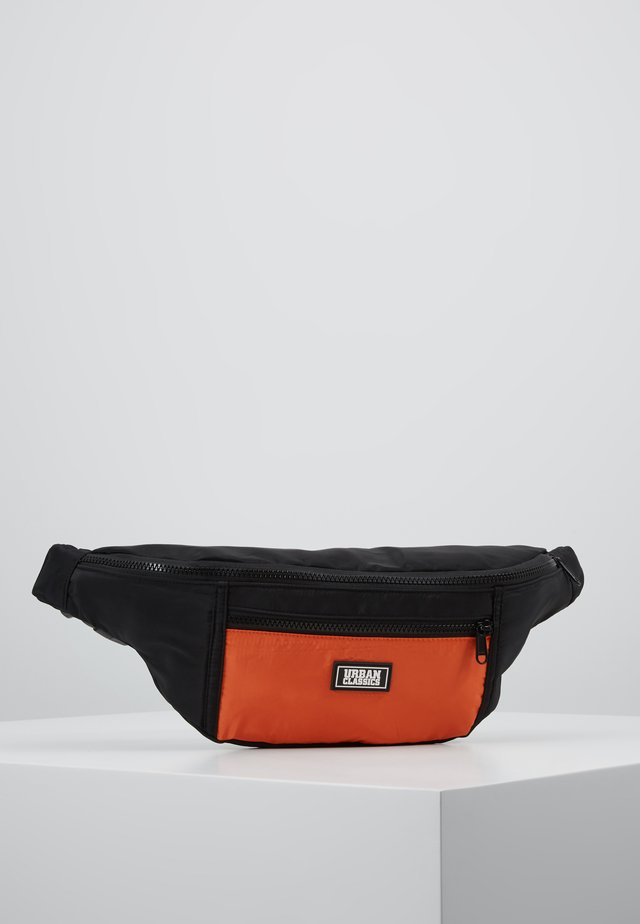 TONE SHOULDER BAG - Bum bag - black/orange
