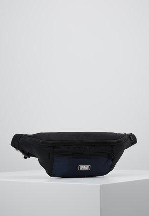 TONE SHOULDER BAG - Sac banane - black/blue