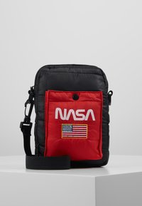 Urban Classics - NASA FESTIVALBAG - Taška spříčným popruhem - black - 0