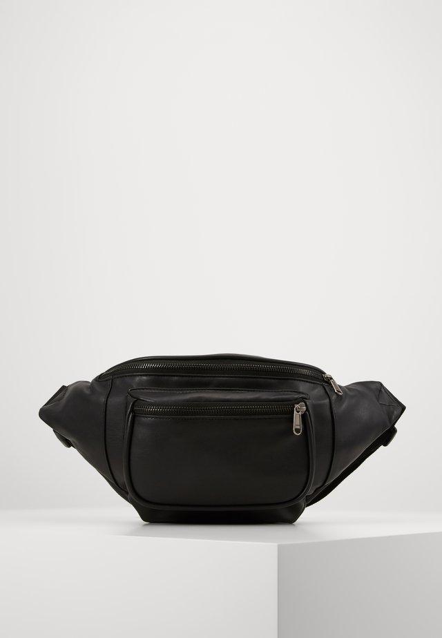 DOUBLE ZIP SHOULDER BAG - Bum bag - black