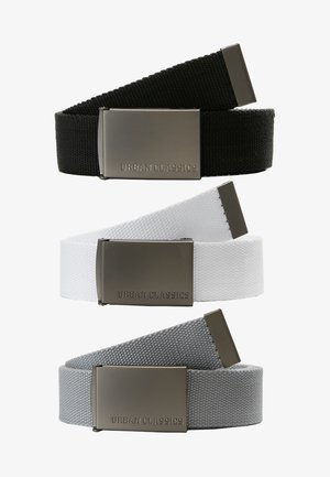 3 PACK - Bælter - black/grey/white