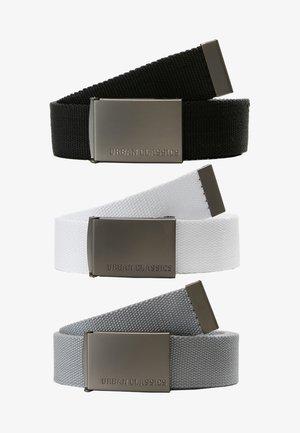 3 PACK - Belte - black/grey/white