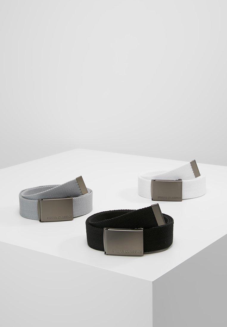 Urban Classics - 3 PACK - Cintura - black/grey/white