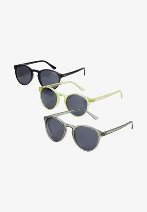 SUNGLASSES CYPRES 3 PACK - Sluneční brýle - black/light grey/yellow